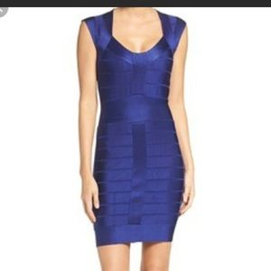 French Connection blue bodycon dress. Size 6